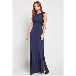 New BCBGeneration Lace-Trimmed Evening Dress (2)